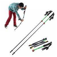 yürüyüş için trekking direği toptan satış-Ultra hafif EVA Kolu 5-Section Ayarlanabilir Bastonlar Yürüyüş Sticks Trekking Pole Alpenstock Açık Dağcılık Yürüyüş Için ZZA940