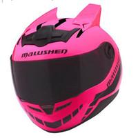 tirón de la cara del casco completo al por mayor-ABS Casco de moto Personalidad Cascos integrales Malushun Flip Up Casco de motocross Cascos de moto Capacetes HHA108