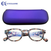 tv luz azul al por mayor-Eyeguard Kids Anti Light Rays Juego Gafas Glare Tv Computadora Proteger Ojos Adolescentes Niños Sanos Demi Negro Rojo Azul J190521