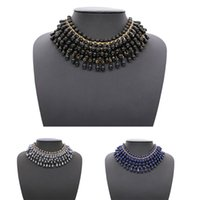 Wholesale vintage ethnic tribal jewelry for sale - Group buy Bohemian Vintage Tassel Necklace Beads Pendant Bib Choker Fake Collar Beaded Ethnic Party Accesory Tribal Women Lady Jewelry New