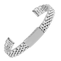 мужские наручные часы оптовых-12MM Silvery Stainless Steel Watch Strap for Men Solid Metal Watches Band for Ladies Adjustable Bangle Watches Strap Friends