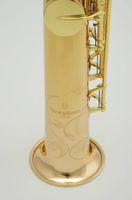gerade sopran-saxophon großhandel-Yanagisawa S 902 B (B) Sopran Gerade Pfeife Saxophon Markenqualität Musikinstrumente Goldlack Messing Sax Mit Fall