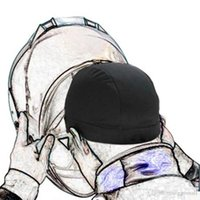 motosiklet boncuk şapkaları toptan satış-Motosiklet Kask İç Kap Coolmax Şapka Hızlı Kuru Nefes Şapka Yarış Kap Kask Beanie Kap Kask için Altında