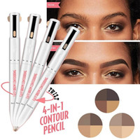 ingrosso evidenziando la penna-Penna contorno occhi sopracciglio facile da indossare 4 in 1 che definisce la matita della penna del tatuaggio contorno sopracciglia con sopracciglio