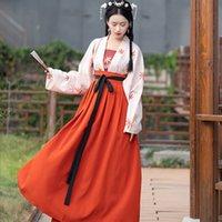 chinese trajes tradicionais mulheres venda por atacado-traje hanfu vestido roupa mulheres chinesas tradicionais trajes dança chinesa hanfu mulheres CHEONGSAM