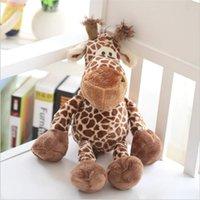 brinquedos de pelúcia de cervo venda por atacado-25 centímetros bonito girafa grande lindo de pelúcia animal cervos brinquedos boneca para as crianças presentes do Natal frete grátis