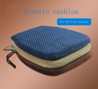 Wholesale dining car resale online - New slow rebound memory foam Cushions Office Chair Car Seat Cushion Dining chair cushion Hip Pad x41x31x4 cm colors