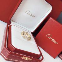 accessoires bijoux turquoise achat en gros de-Collection de bijoux Bagues de créateurs Boucle Bagues 2019 Accessoires de mode de luxe Détails du diamant 360 degrés brillants Collections Infini
