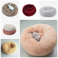 Wholesale pet plush dog houses for sale - Group buy Pet Round Bed Kennel Long Plush Super Soft Dog Cat Comfortable Sleeping Cusion Winter House for Cat Warm Dog beds Pet Products LXL1071