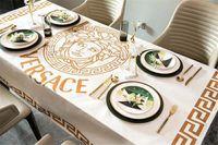Wholesale table cloths resale online - V Letter Print Tablecloth New White Goddess Head Design Tablecloth Size Hot Sale Fashion Letter Table Cloth