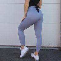 Wholesale men yoga pants resale online - Women POWER DOWN Seamless Leggings High Waisted Leggings Gym Leggings Tummy Control Yoga Pants Women Trousers