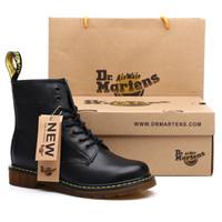 botas cómodas de mujer al por mayor-Los nuevos amantes botas de alta calidad Dividir zapatos de cuero genuinos de las mujeres Botas Marca cargadores de la nieve de invierno de piel caliente cómoda de las mujeres Zapatos Dr. Martins