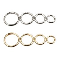 Wholesale golden key chain resale online - Alloy Round Key Chain Electroplating Multi Size Spring Coil Golden Silvery Surface Brightness Fashion Bag Clothes Accessories ed7D1