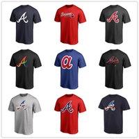 бейсбольная футболка печать оптовых-Трикотажные изделия для бейсбола Atlanta 13 Ronald Acuna Jr. Braves 5 Freddie Freeman Мужские дизайнерские футболки с коротким рукавом Фанаты топов Футболки с логотипом бренда