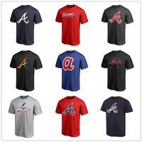 shirt marken logo groihandel-Baseball Trikots Atlanta 13 Ronald Acuna Jr. Braves 5 Freddie Freeman Herren Designer T-Shirts Kurzarm Fans Tops T-Shirt gedruckte Markenlogos