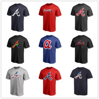 shirt markaları logosu toptan satış-Beyzbol formalar Atlanta 13 Ronald Acuna Jr. Braves 5 Freddie Freeman erkek tasarımcı t-shirt kısa kollu Fanlar Tops Tee baskılı marka logolar