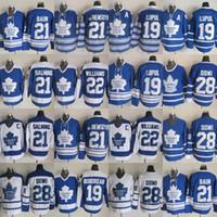 lupul hockey jersey джерси оптовых-21 BAUN 2019 Торонто ST Pats Men 19 LUPUL 22 BWILLIAMS 28 ДОМИ 21 SALAING Торонто Мэйпл Лифс Хоккейные майки