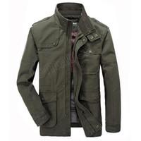 erkek pamuk rüzgarlık toptan satış-Ceket Erkekler Nedensel Pamuk Rüzgarlık Uzun Ceketler Erkek Askeri Dış Giyim Uçuş Ceket Artı boyutu 7XL erkek Siper Cep mont