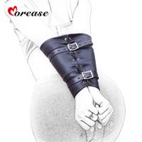 женская кожаная порка оптовых-Morease эротические рычаг задней связывание ограничения пояс натуральная кожа жгута руку с садо-мазо секс-игрушки для мужчин и женщин C18112701