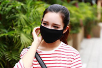 bisiklet için toz maskesi toptan satış-Anti-Toz Pamuk Ağız Yüz Maskesi Unisex Adam Kadın Bisiklet Giyen Siyah Moda Yüksek kalite