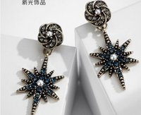 Wholesale knot earings resale online - wondrful high quality diamond crystal fashion style silver lady s earings TX fr