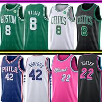 ingrosso maglie al-NCAA Boston Kemba 8 Walker Celtic Jersey Università Miami Jimmy 22 Butler Heat Jersey 76ers Al 42 Horford Basketball Maglie
