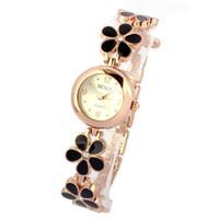 девушки выросли цветочные браслеты оптовых-OTOKY Classic Design Fashion Daisies Flower Rose Gold Bracelet Wrist Watch Women Girl Elegant Watch YY04