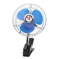 Wholesale 12v gear resale online - 12V Mini Electric Summer Car Air Rotating Adjustable Gears Conditioner Fan Car Fan Cooling Air