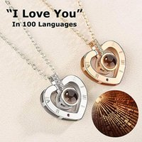 Wholesale best gifts for girls online - 100 Languages I Love You Necklace for Women I Love You Necklace Memory Projectors Necklace Best Gift MMA1242