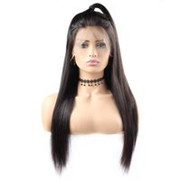Wholesale straight human hair wigs online - Natural Color A Straight Wigs lace front human hair wigs quot quot Body Wave Human Hair Wigs Brazilian Hair Swiss Lace Cap