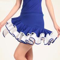 ingrosso abiti tango viola-Abito da ballo latino pop nero / blu / viola / rosso Tango da donna latino ballo gonna M-5XL Salsa Abiti moda