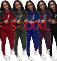sportanzug freie größe großhandel-freies Verschiffen 9392 # ROSA Frauen-Victoria-Sport-Klage-Hosen Hoodie-Frühlings-Druck-Pullover-Geheimnis übersteigt Sweatshirts 5 Farbgröße S-XXXL