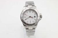 senhoras relógios de prata venda por atacado-boa Qualidade Senhoras Platina Yachmaster Platinum Index 169622 SANT BLANC Automático homem Assista Relógios