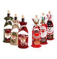 weinflaschen-säcke großhandel-Weihnachten Weinflasche Abdeckung Snowman Stocking Weihnachten Geschenk-Taschen Weihnachten Sack Verpackung Navidad Presents Chrismas Neujahr 2020 Großhandel