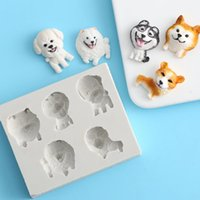 Wholesale fondant mould dogs for sale - Group buy Silicone Cake Molds Chocolate Moulds Fondant Puppy Moulds Silicone Fondant Dog Mould Cake Tool