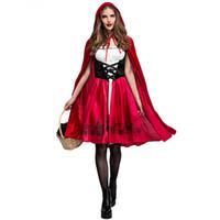 американская атлетика оптовых-Европейский и американский Рождество Хэллоуин Красная Шапочка костюм косплей платье партии Красная Шапочка ночной клуб Королева платье