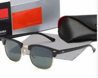 lente de aviador al por mayor-Rayos de lujo 3016 marca diseñador gafas de sol gafas de sol unisex piloto UV400 gafas gafas de aviador conductor prohibiciones marco de metal lente de película de color