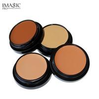 makyaj izleri toptan satış-IMAGIC Makyaj Yüz Kapatıcı Krem Izleri Çiller Siyah Göz Tam Kapak Makyaj Yüz Kapatıcı Paleti 4 Renkler vakıf krem