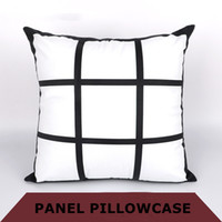 DIY Sublimation 9-grids pillows cases 45cm*45cm heat transfering printing blank pillowslip thermal transfer print Polyester pillow case A07