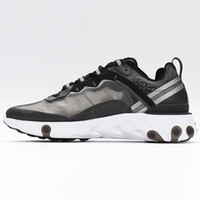 Wholesale silver flat shoes for women for sale - Group buy 2020 react element running shoes for mens womens Pack White Sneakers Brand Men Women Trainer Men Women Designer Running Shoes Zapatos