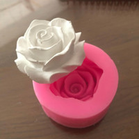 Wholesale flower jelly mold for sale - Group buy Flower Bloom Rose shape Silicone Fondant Soap D Cake Mold Cupcake Jelly Candy Chocolate Decoration Baking Tool