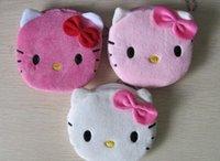 kawaii make-upbeutel großhandel-3 Farben Für Wahl - Super Kawaii 10 CM Hallo Kitty Dame Geldbörse Brieftasche Tasche Tasche; Makeup BAG Pouch Frauen Handtasche
