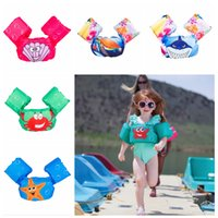 Wholesale circle baby animals for sale - Group buy 5styles Sea Swimming Arm cartoon Circle Arm animals Ring Inflatable Cute Children Toddler Bathing Swim Pool Baby Clothing Swimwear FFA2150