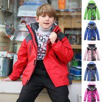 Wholesale 3 in Kids Outdoor Jackets Warm Sportswear Children s Sports Jackets Zipper Thicken Hoodies With Hat Detachable Clothing