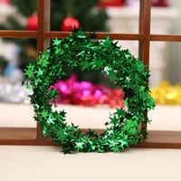 Wholesale wired wreath resale online - Christmas Garland Wreath Xmas Decoration Iron Wire Pentagram Stars Rattan Bar