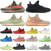 zebra stiefel großhandel-adidas yeezy boost 350 v2 fügt hinzu, ANTLIA Static Black Reflective Clay Kanye West Glow Lundmark Tennisschuhe Herren Stiefel Damen Turnschuhe Yellow Zebra Beluge Men Sneakers