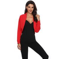 108bd3f85dd Wholesale plus size women shrugs online - 2018 Fashion Cardigan Womens  Jacket Crop Top Bolero Shrug