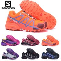 sendero zapatillas de senderismo al por mayor-Salomon Speedcross 4 rojo Trail Runner Women Running Shoes Moda deportiva para mujer Speed ​​cross 4s IV Senderismo Sneaker Zapatos al aire libre eur 36-42