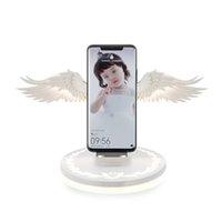 charger la lumière du téléphone achat en gros de-Angel Wings Night Light Chargeur de téléphone sans fil pour Android Apple USB10w Charge rapide Night Light