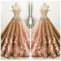 Wholesale 26w special occasion dresses for sale - Group buy Off Shoulder Lace Adorned Brown Quinceanera Dresses Princess Sweetheart Prom Party Gowns Formal Custom Online Special Occasion Wear